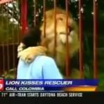 ライオンと女性の数年ぶりの再会。そこで起こったこととは!