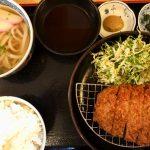 中通りのうどん屋「麺夢」で定食をがっつり食べる